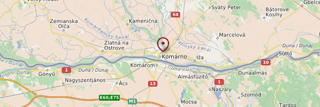 Carte Komarno - Slovaquie