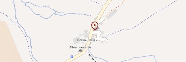 Carte Allée couverte du Mougau-Bihan - Bretagne