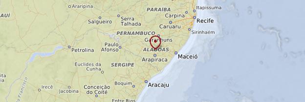 Carte État d'Alagoas - Brésil