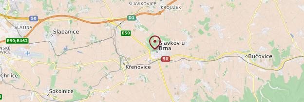 Carte Austerlitz (Slavkov) - République tchèque