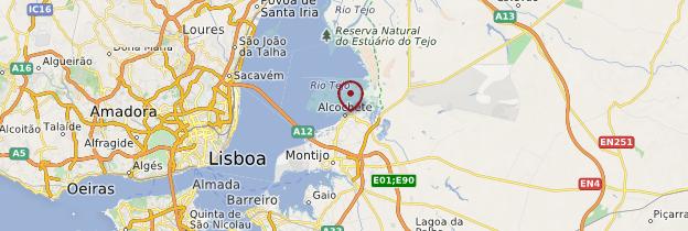 Carte Alcochete - Portugal