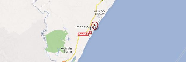 Carte Imbassaí - Brésil