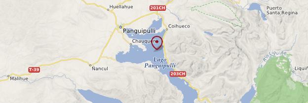 Carte Lac Panguipulli - Chili