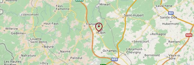 Carte Libin - Belgique