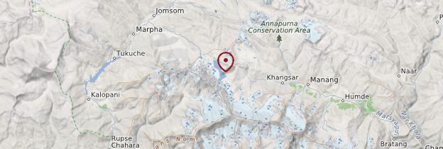 Carte Lac Tilicho - Népal