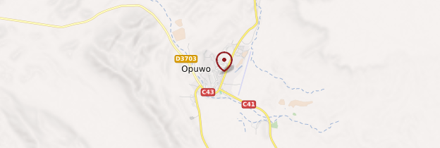 Carte Opuwo - Namibie