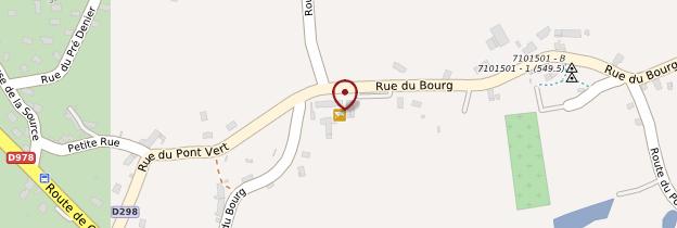 Carte Auxy - Bourgogne