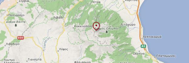 Carte Mont Olympe - Grèce