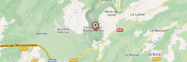 Carte Cirque de la Consolation - Franche-Comté
