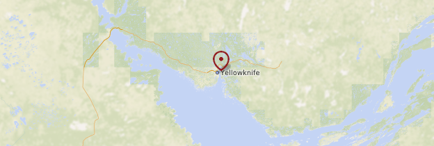 Carte Yellowknife - Canada