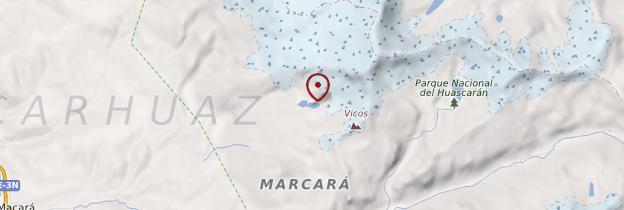 Carte Laguna 69 - Pérou