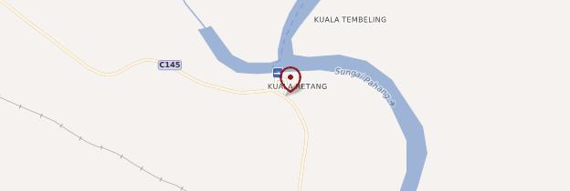 Carte Kuala Tembeling - Malaisie