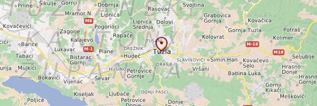 Carte Tuzla - Bosnie-Herzégovine