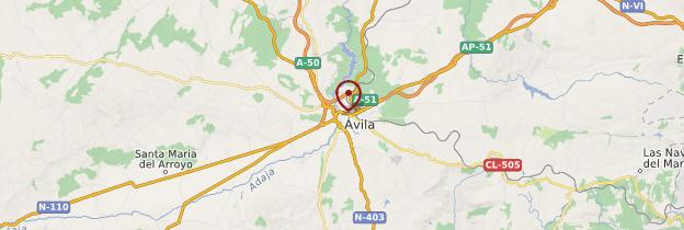 Carte Ávila - Espagne
