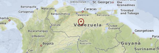 Carte Llanos - Venezuela