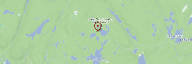 Carte Parc national de la Mauricie - Québec