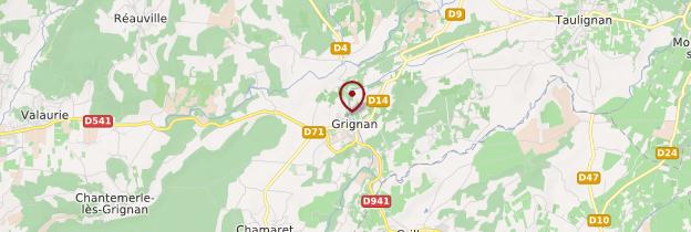 Carte Grignan - Ardèche, Drôme