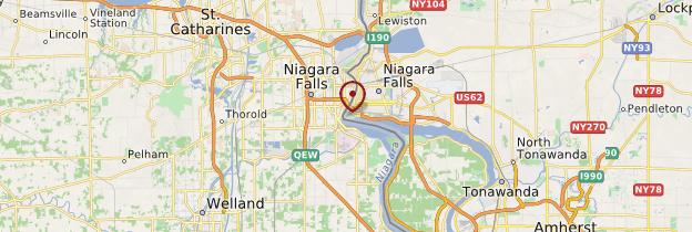 Carte Chutes du Niagara - Canada