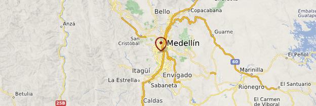 Carte Medellín - Colombie