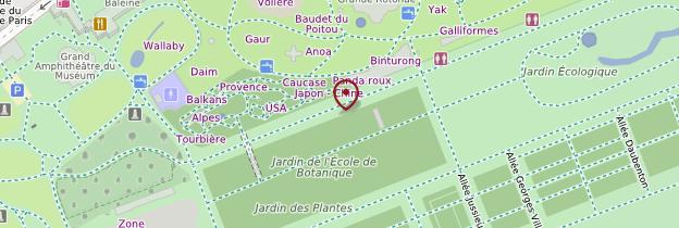 Carte Jardin des Plantes - Paris