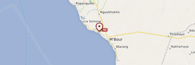 Carte Saly - Sénégal