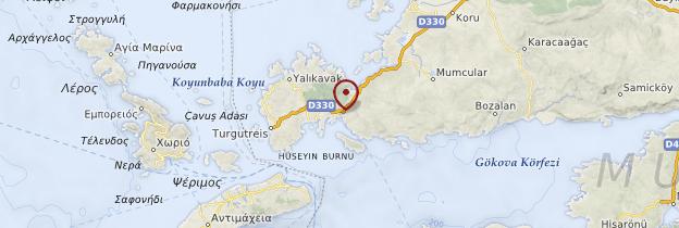 Carte Bodrum - Turquie