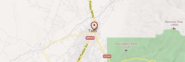 Carte Taos - Parcs nationaux de l'Ouest américain