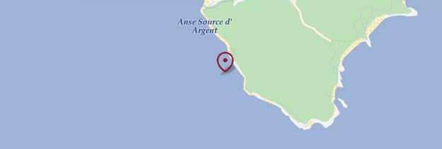 Carte Anse Source d'Argent - Seychelles
