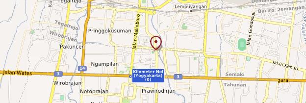 Carte Yogyakarta (Yogya) - Indonésie