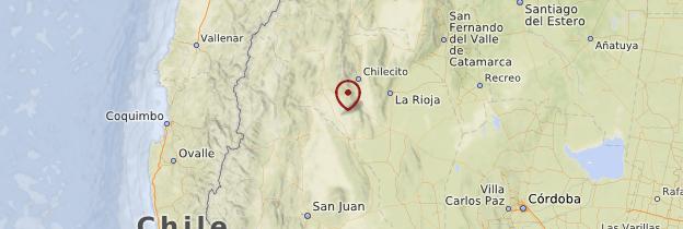 Carte Parc national Talampaya - Argentine