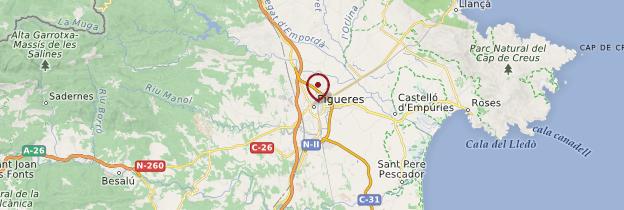 Carte Figueres - Catalogne