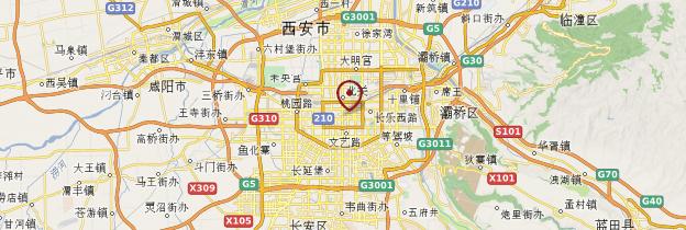 Carte Xi'an - Chine