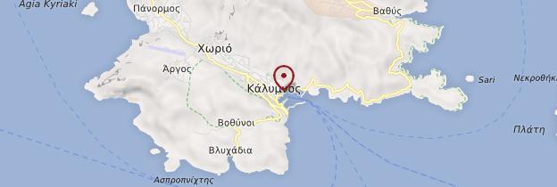 Carte Île de Kalymnos - Îles grecques