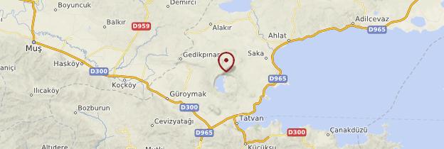 Carte Nemrut Dagi - Turquie