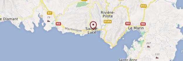 Carte Distillerie Trois-Rivières - Martinique