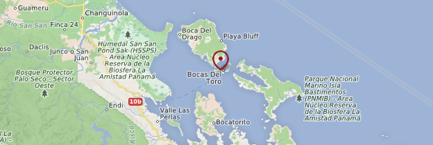 Carte Archipel de Bocas del Toro - Panama