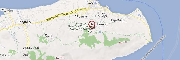 Carte Île de Kos - Îles grecques