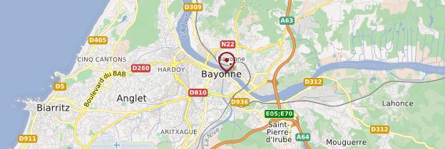 Carte Bayonne - Pays basque et Béarn