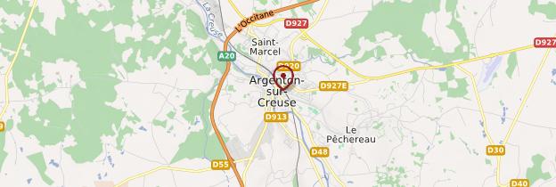 Carte Argenton-sur-Creuse - Berry