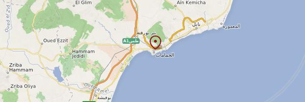 Carte Hammamet - Tunisie