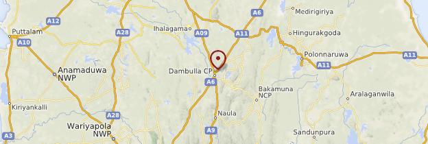 Carte Dambulla - Sri Lanka