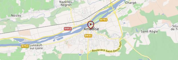 Carte Amboise - Châteaux de la Loire