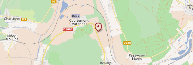 Carte Courtemont-Varennes - Picardie