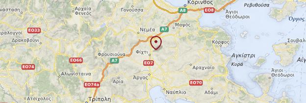 Carte Mycènes - Grèce