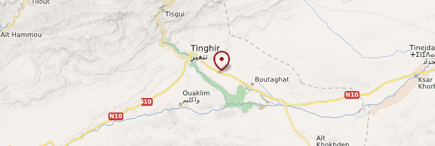 Carte Vallée du Todgha - Maroc