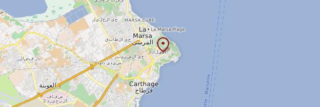 Carte Sidi-Bou-Saïd - Tunisie
