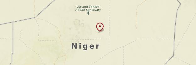 Carte Désert du Ténéré - Niger