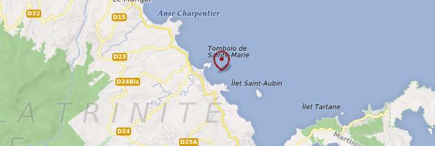 Carte Îlet Sainte-Marie - Martinique