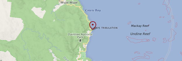 Carte Cape Tribulation - Australie