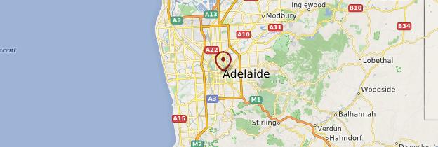 Carte Adélaïde - Australie